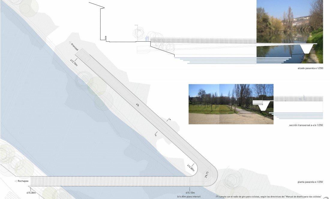 Pasarela peatonal de conexión Aranzadi - Rochapea_APEZTEGUIA ARCHITECTS_0